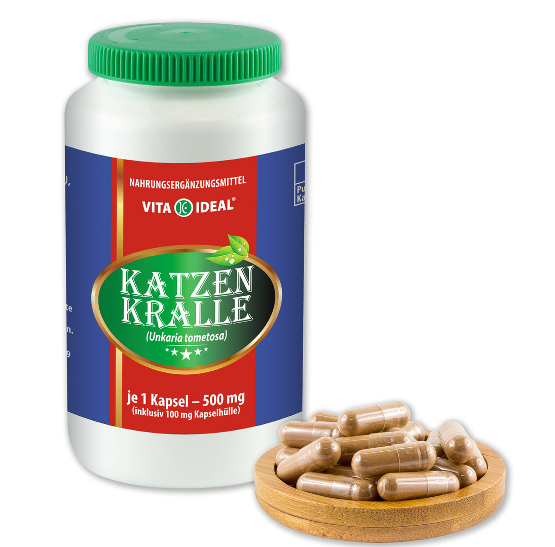Katzenkralle Kapseln (Uncaria tomentosa, Cats Claw) je 500mg
